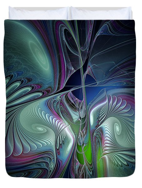 Silky Nights-fractal Design Duvet Cover