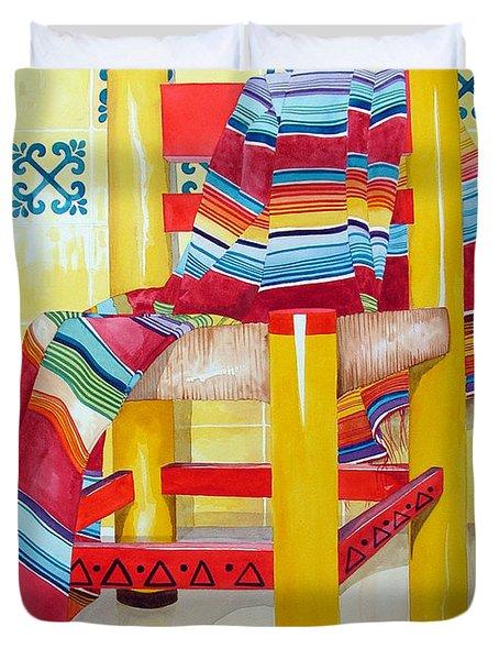 Silla De La Cocina--kitchen Chair Duvet Cover