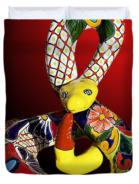 Silly Snake Duvet Cover by Phyllis Denton