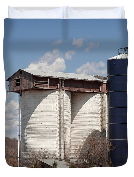 Silo House With A View - Color Duvet Cover