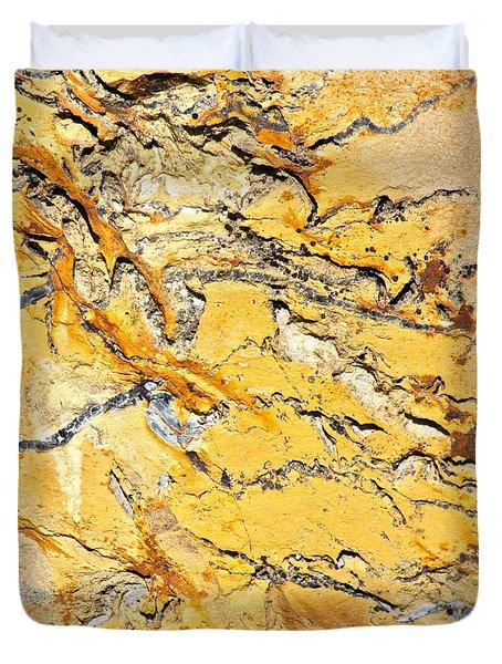 Siltstone Abstract Duvet Cover by Karon Melillo DeVega