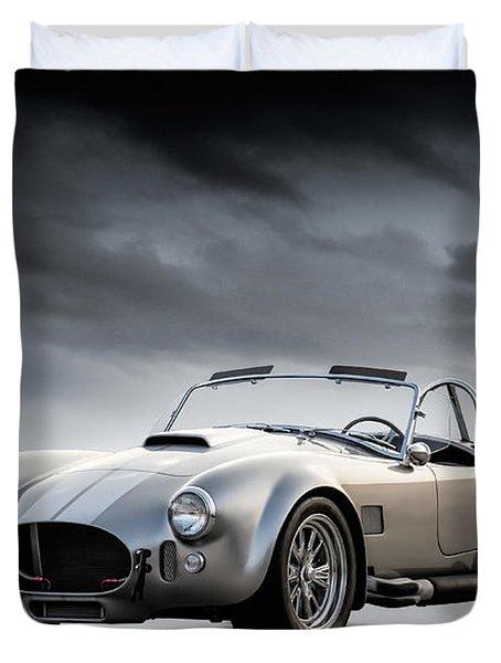 Silver Ac Cobra Duvet Cover