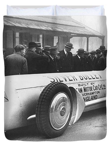 Silver Bullet Race Car Duvet Cover