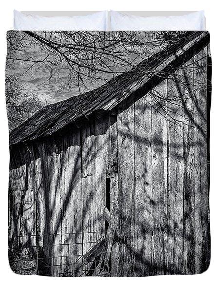 Silver Grey Duvet Cover by CJ Schmit