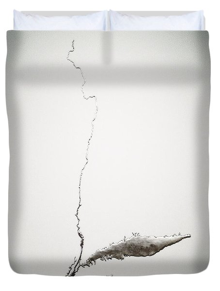 Silver Hudson By Maya Lin Duvet Cover
