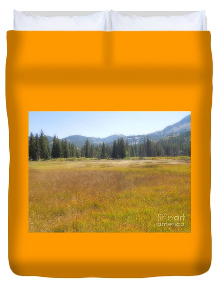 Silver Lake Area Big Cottonwood Canyon Utah Duvet Cover
