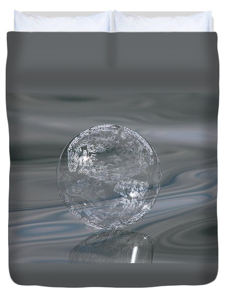 Silver Lining Duvet Cover by Cathie Douglas