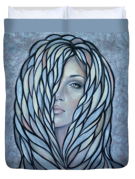 Silver Nymph 021109 Duvet Cover by Selena Boron
