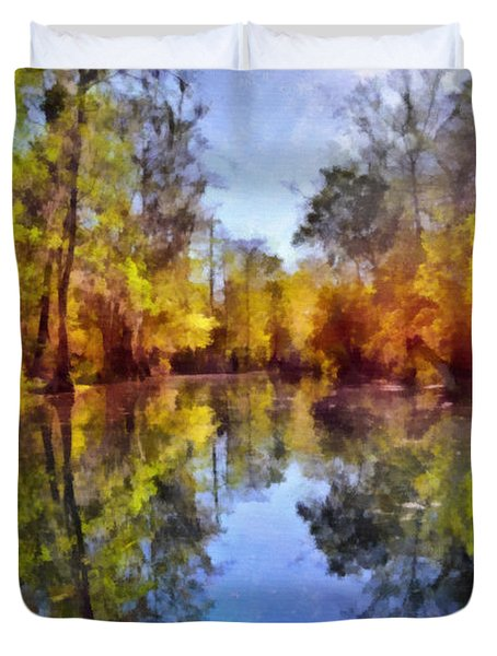 Silver River Colors Duvet Cover by Christine Till