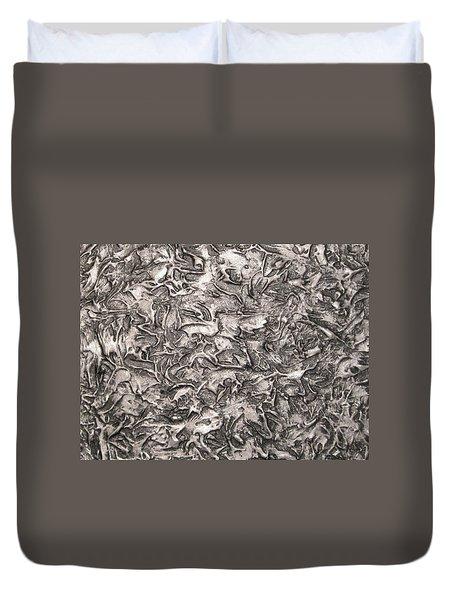 Silver Streak Duvet Cover
