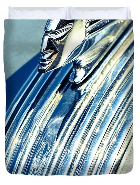 Profile In Chrome II Duvet Cover by Caitlyn  Grasso