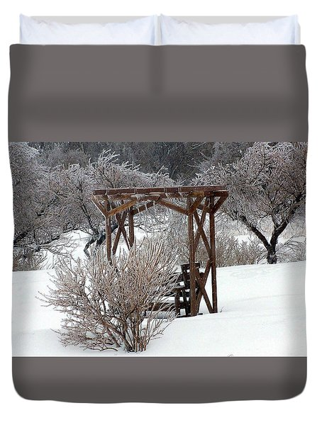 Silver Thaw Duvet Cover