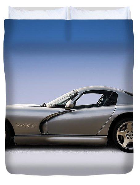 Silver Viper Duvet Cover by Douglas Pittman