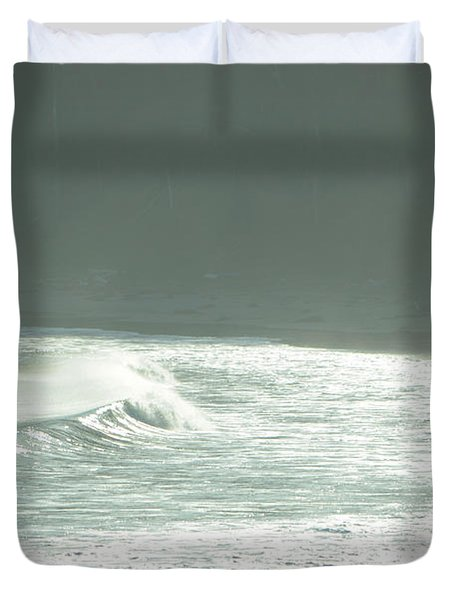 Silver Wave Duvet Cover