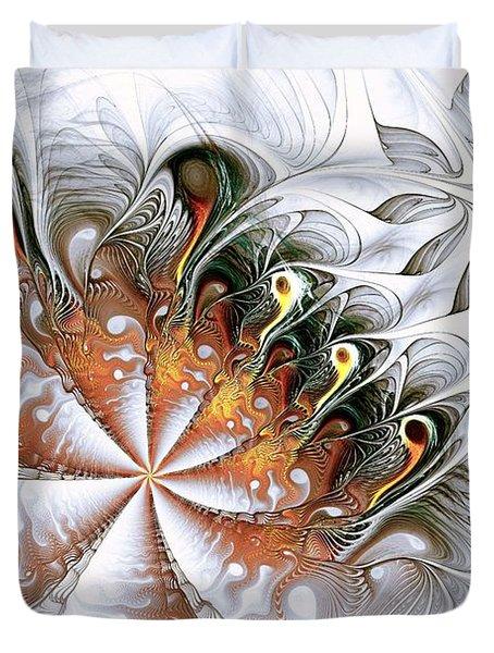 Silver Waves Duvet Cover by Anastasiya Malakhova