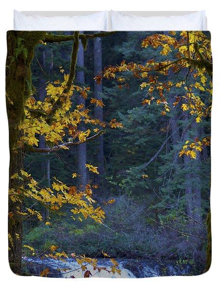 Silverton Falls Oregon Duvet Cover