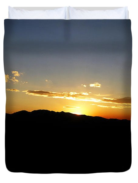Simple Sunset Duvet Cover by Jeremy Rhoades