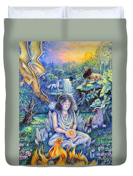 Simply Elemental Duvet Cover by Gail Butler