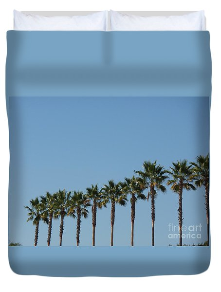 Simply Palms Duvet Cover by HEVi FineArt