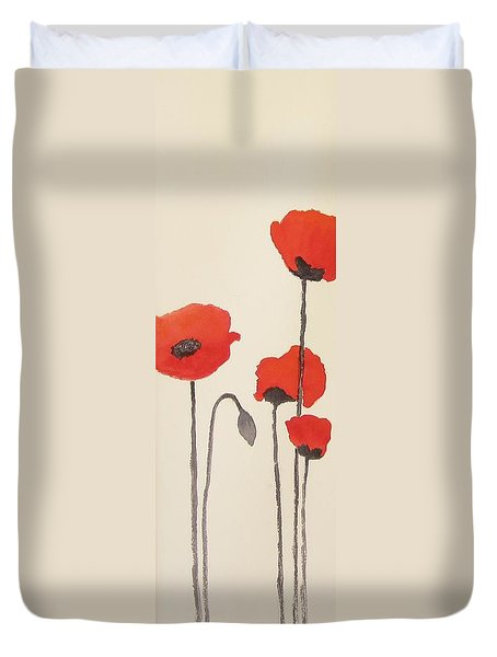 Simply Poppies 2. Duvet Cover