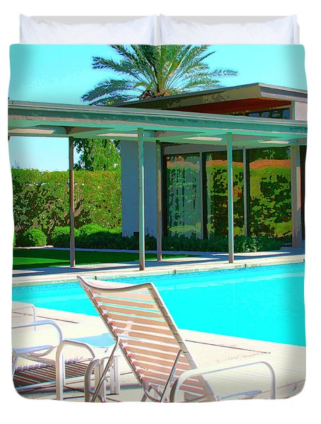 Sinatra Pool Palm Springs Duvet Cover