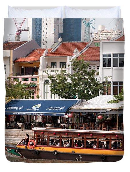Singapore Boat Quay 04 Duvet Cover