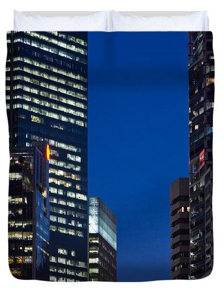 Singapore City At Night Duvet Cover
