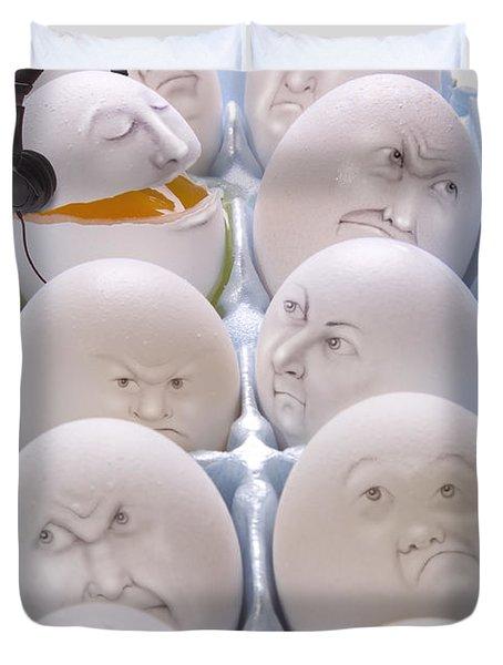 Singing Egg Duvet Cover