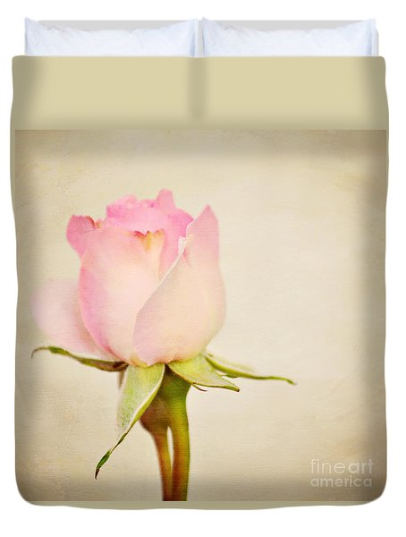 Single Baby Pink Rose Duvet Cover