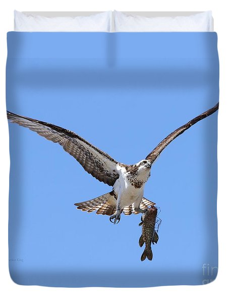 Single Handed Duvet Cover by Heather King