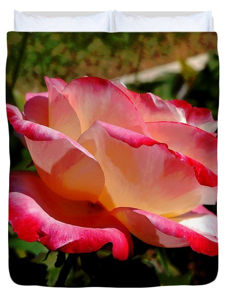 Single Rose Duvet Cover by Pamela Walton