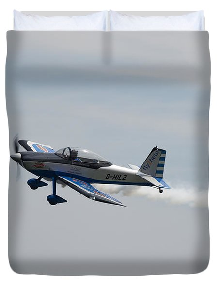 Duvet Cover featuring the photograph Single Rv8tor Sunderland Air Show 2014 by Scott Lyons