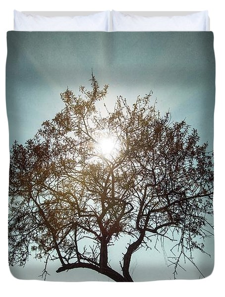 Duvet Cover featuring the photograph Single Tree by Carlos Caetano