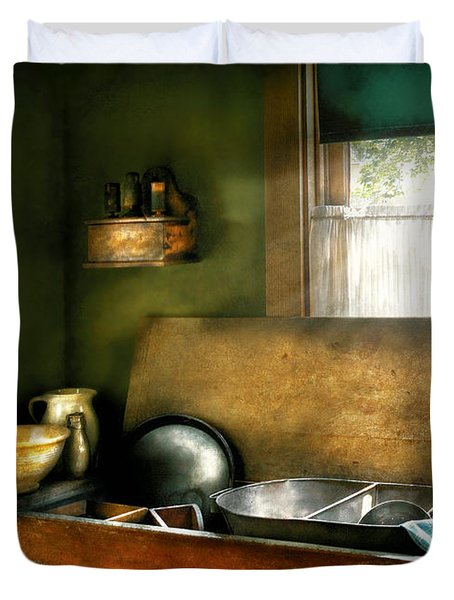 Sink - The Kitchen Sink Duvet Cover by Mike Savad