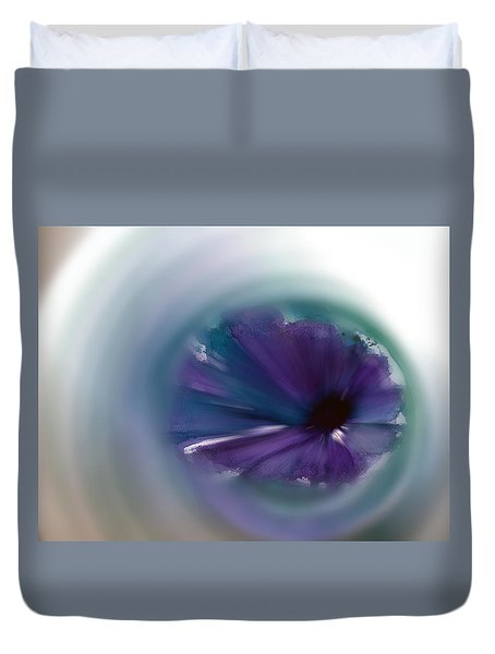 Duvet Cover featuring the mixed media Sinking Into Beauty by Frank Bright
