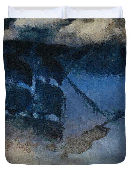 Sinking Sailer Duvet Cover by Ayse and Deniz