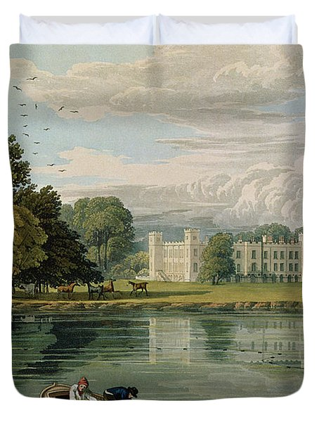 Sion House, Engraved By Robert Havell Duvet Cover by William Havell