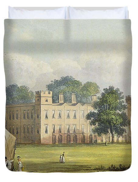 Sion House, From R. Ackermanns Duvet Cover by John Gendall