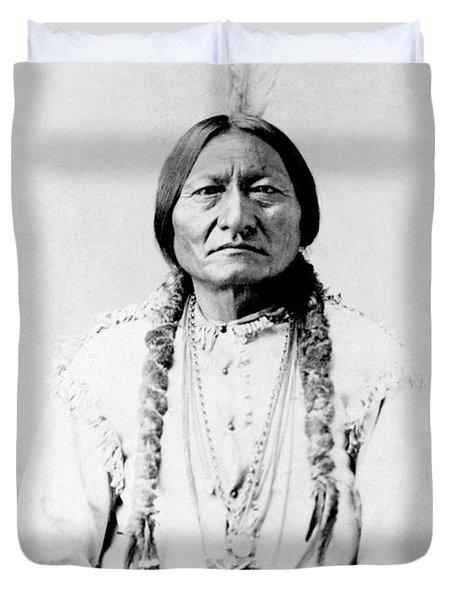 Sioux Chief Sitting Bull Duvet Cover