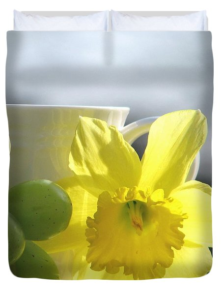 Sipping Spring Duvet Cover