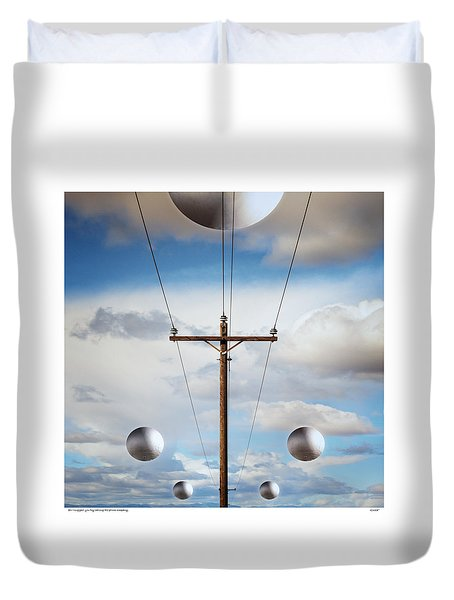 Sir I Suggest You Call The Phone Company Duvet Cover by Gary Warnimont