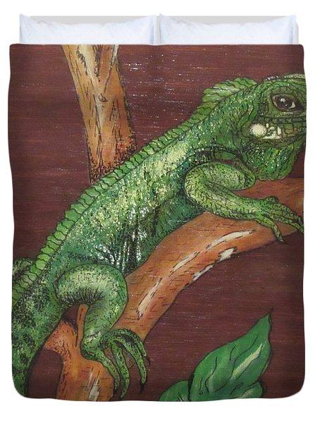 Sir Iguana Duvet Cover