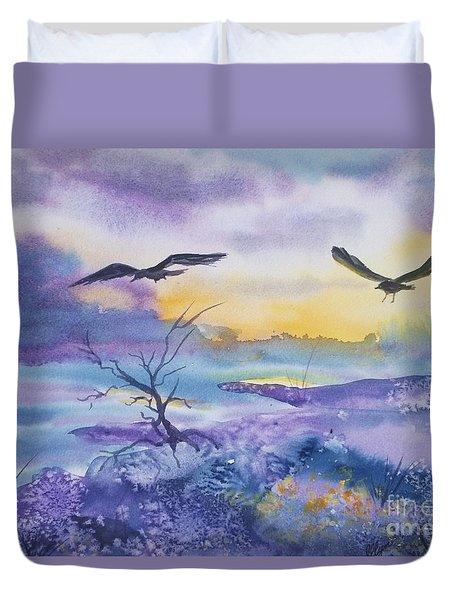 Sister Ravens Duvet Cover by Ellen Levinson