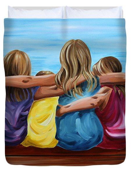 Sisters Duvet Cover by Debbie Hart