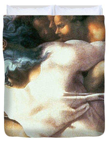 Sistine Chapel Ceiling Creation Of Adam Duvet Cover by Michelangelo Buonarroti