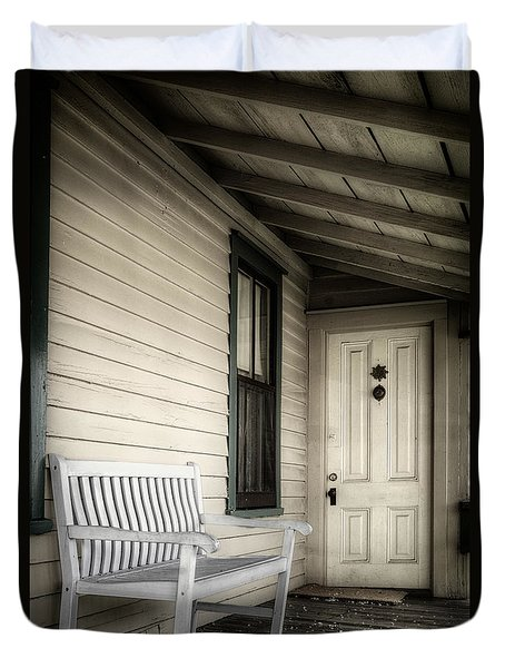 Sit Awhile Duvet Cover by Joan Carroll