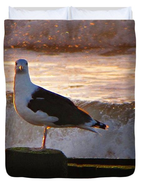 Sittin On The Dock Of The Bay Duvet Cover by David Dehner