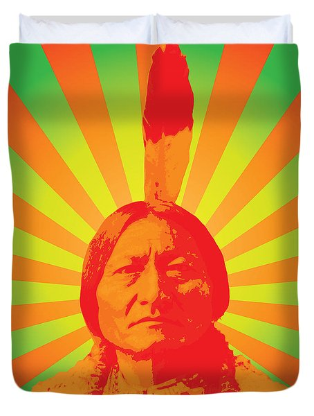 Sitting Bull Duvet Cover by Gary Grayson