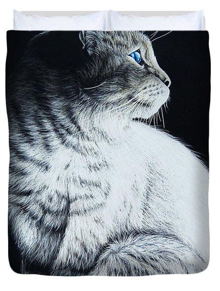 Sitting Cat Duvet Cover