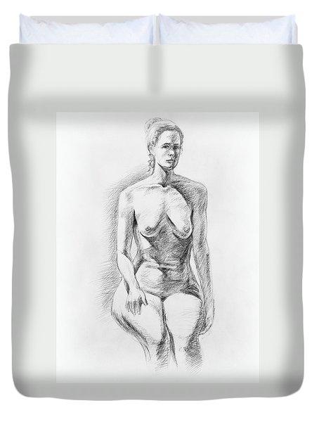 Sitting Model Study Duvet Cover